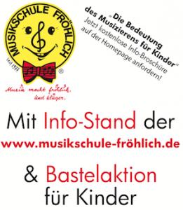 Infostand der Musikschule Fröhlich